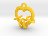 4 Hearts Linked in Love 3d printed