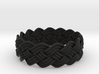 Turk's Head Knot Ring 4 Part X 15 Bight - Size 15. 3d printed