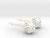 Starfish Ball Earrings 3d printed