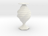 twisted babel fish flower  vase 3d printed