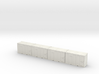 HO 1/87 MSW 4x Trash Containers for Atlas Flatcar 3d printed