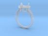 Heart Pave Diamond Ring 3d printed
