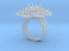 Sunflower Cut Diamond Ring 3d printed