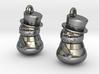 Snowman Earrings 3d printed