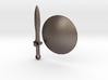Real Metal Shield & Sword for ModiBot 3d printed Real Metal Shield & Sword for ModiBot