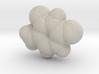 Thymine molecule (x40,000,000, 1A = 4mm) 3d printed