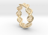 Male DNA Ring From The Male Female Matching Set 3d printed
