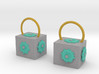 Dr Who The Pandorica Earrings 3d printed