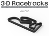 Valencia 3d printed Track with no run off areas