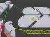 Illusionist Heart Pendant 3d printed Lock Mechanismdetached