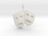 Theatre Faces Pendant 3d printed
