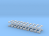 N Scale Fixed Coupling 9mm X20 3d printed