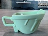 Excavator Bucket - Espresso Cup (Porcelain) 3d printed (old ceramic) The real one in green