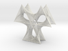 Wired Doubly Three Petals Straight Line Curves  3d printed