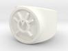 Orange Avarice GL Ring Sz 5 3d printed
