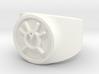 Orange Avarice GL Ring Sz 8 3d printed