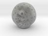 Moon With Rocket In Eye 3 3d printed