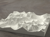 6'' Glacier National Park, Montana, USA, Sandstone 3d printed Rendering of model, looking East over the Going-to-the-Sun Road