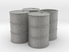 G Scale 44 Gallon Drums (open one end) x4 3d printed