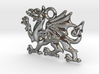 Welsh dragon charm 3d printed