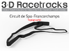 Spa Francorchamps | Topographic 3d printed Render