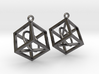 Wireframe Earrings 3d printed