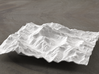 6''/15cm Aconcagua, Argentina, WSF 3d printed Rendering of model looking North up the Valle de los Horcones
