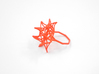 Aster Ring (Small) Size 9 3d printed Coral Nylon (Custom Dyed Color)