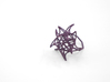 Aster Ring (Small) Size 7 3d printed Eggplant Nylon (Custom Dyed Color)