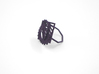 Arithmetic Ring (Size 7) 3d printed Midnight Nylon (Custom Dyed Color)