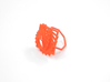 Arithmetic Ring (Size 6) 3d printed Coral Nylon (Custom Dyed Color)