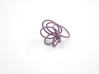 Flora Ring A (Size 7) 3d printed Wisteria Nylon (Custom Dyed Color)