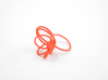 Flora Ring A (Size 9) 3d printed Coral Nylon (Custom Dyed Color)