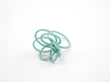 Flora Ring A (Size 9) 3d printed Teal Nylon (Custom Dyed Color)