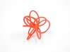 Flora Ring B (Size 6) 3d printed Coral Nylon (Custom Dyed Color)