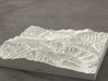 6'' Great Smoky Mountains, TN/NC, USA, Sandstone 3d printed Rendering of model from the North, Mt Le Conte is in the foreground