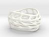 Panel Twist Hollow Ring (Sz 7) 3d printed