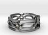 Celtic Eyes ring 3d printed