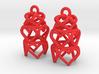 3 Tiered Heart Earrings 3d printed