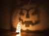 In the shadows - A Halloween Pumpkin Projection  3d printed Halloween pumpkin wall projection