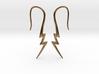 Lightning Bolt Earrings - 14g 3d printed