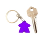 Meeple Keychain 3d printed Photo next to key