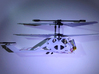 R/C Drone   X2 Helicopter   a Syma S107 Mod 3d printed Assembled print with modified tail mount (cut hole and 2-sided tape)