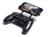 PS4 controller & Xolo A500 3d printed Front View - A Samsung Galaxy S3 and a black PS4 controller