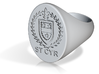 StCyr Crest Ring - Oval Face - Size 10 3d printed