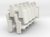 Four set of HO Scale theater seats 3d printed