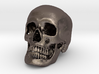 Jack-o'-lantern skull from CT scan, half size 3d printed