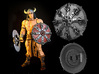 Shield-11-Targe-Chaos 6-7inch MOTU 3d printed Painted with Acrylics