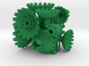 Green Gears & Tiles for the Multi-Gear Cube Kit 3d printed
