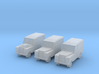 1:450 Land Rover Series 2a, Set of 3, for T gauge 3d printed Land Rover series 2 x 3
